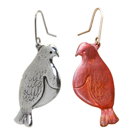 New Zealand Kereru (Wood Pigeon) Earrings
