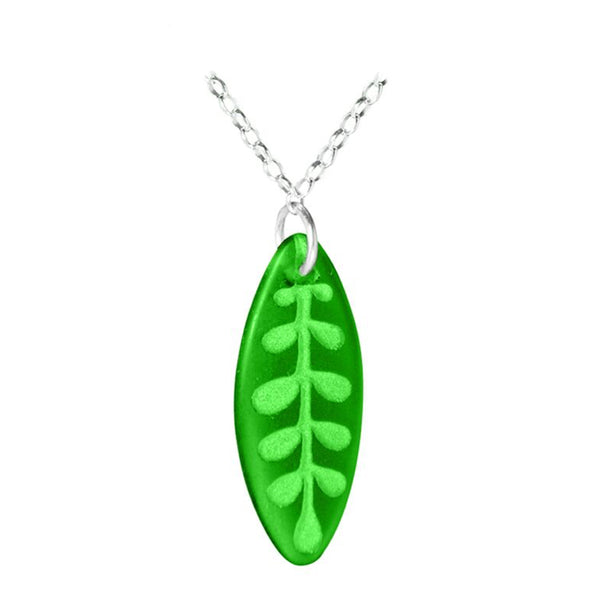 Kowhai Leaf Pendant - Two Colours Available
