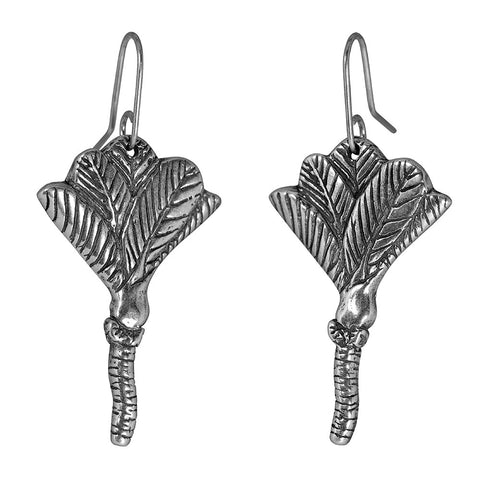 New Zealand Nikau Palm Sterling Silver Earrings