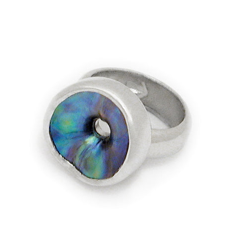 Single Hole Paua Ring