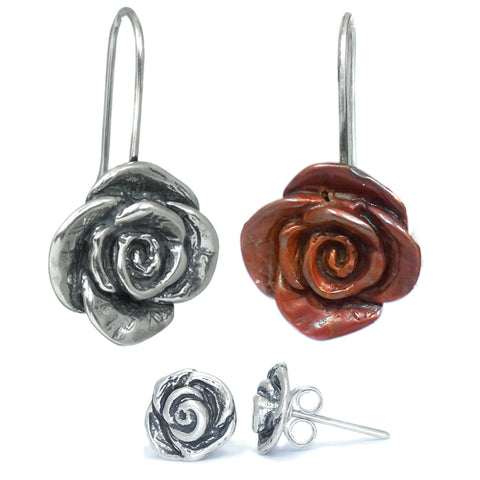 Rose Earrings and Studs