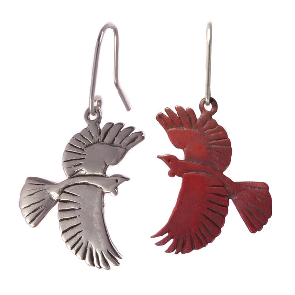 Tui Earrings - Silver and Copper