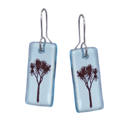 Glass Cabbage Tree Earrings