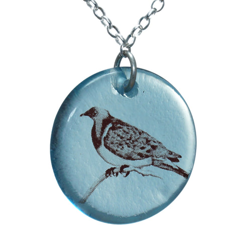 Glass Kereru Disc Pendant