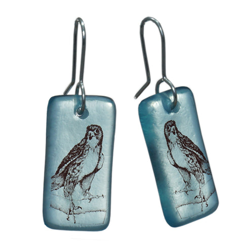 Glass Falcon Earrings