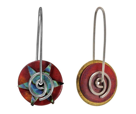 Copper Disc Earrings Collection