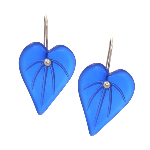 Kawakawa Leaf Earrings - Dark Blue