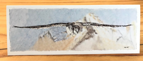 "Greeting Card ""Falcon Flight"""