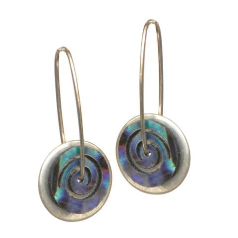 Silver Paua Earrings
