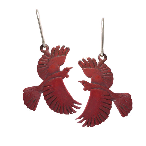 Copper Tui Earrings