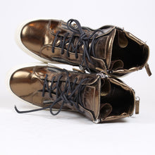 Load image into Gallery viewer, Giuseppe Zanotti Gold Sneakers SZ 40