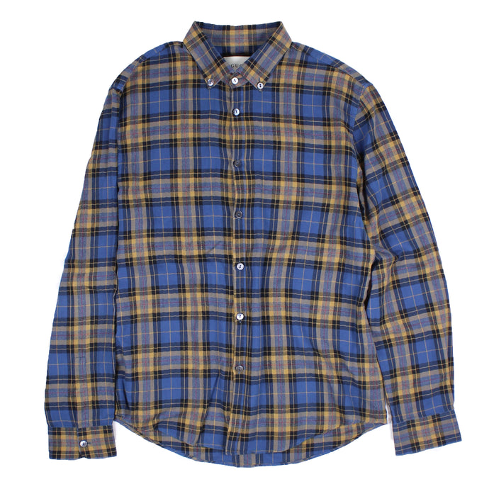 Gucci Flannel Blue/Brown SZ XL