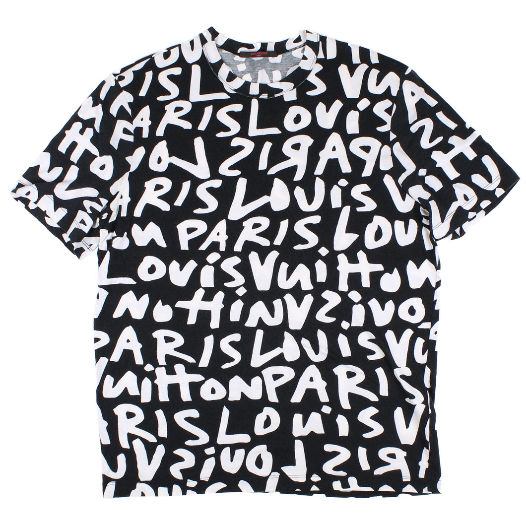 Louis Vuitton Stephen Sprouse Graffiti Tee(White) SZ M
