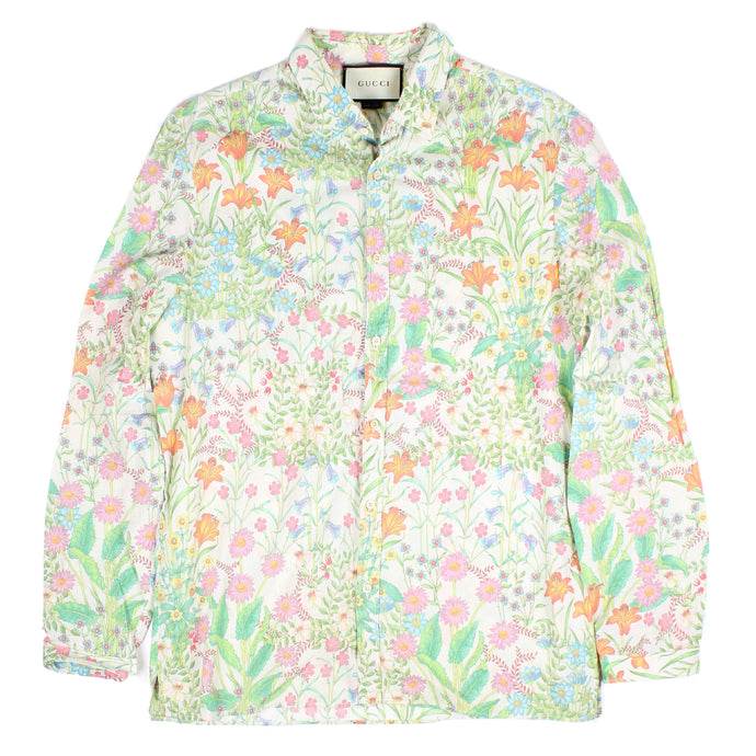Gucci Floral Button Up SZ M