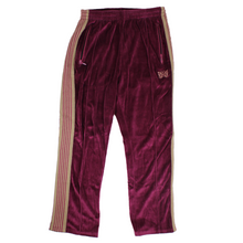 Load image into Gallery viewer, Needles Velour Trackpants SZ M