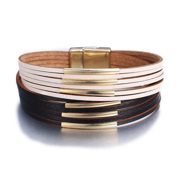 Trending Multi layer Leather & Metal Bracelets for Women