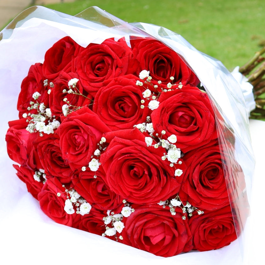 Love - 18 Red Roses Bouquet
