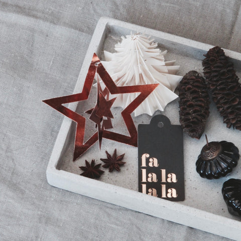 Metallic Paper Star Copper Set/6