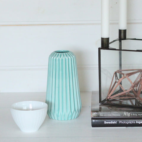 Geometric Vase Mint Tall