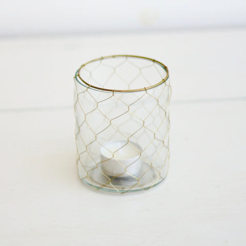 Brass Wire Votive
