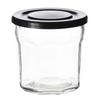 French Glass with Lid Small Black