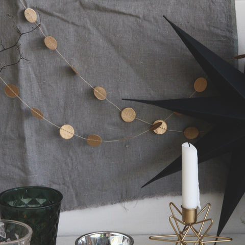 Paper Garland Gold Dots