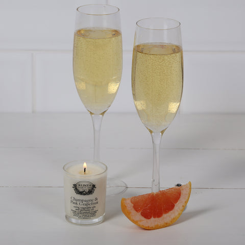 Klinta Scented Candle Champagne & Pink Grapefruit