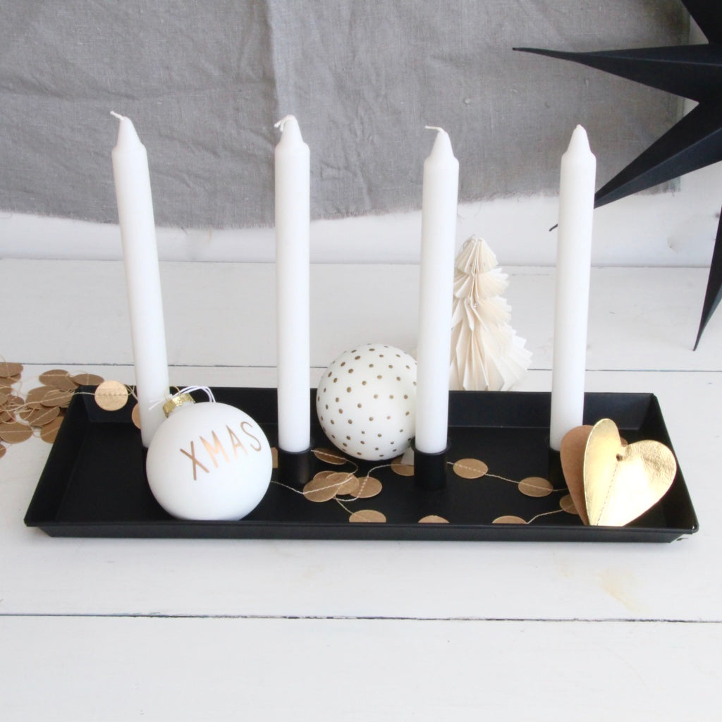 Metal Candle Tray Advent
