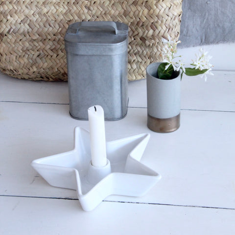 Ceramic Star Candleholder