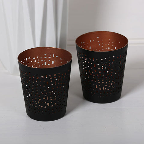 Tealight Holder Black/Copper