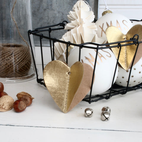 Paper Heart Decoration Gold