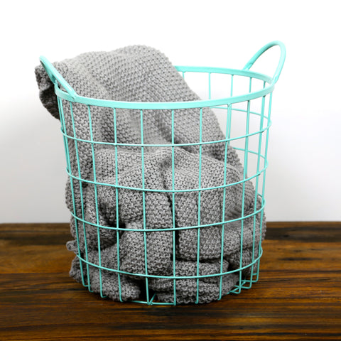 Wire Basket Round Mint