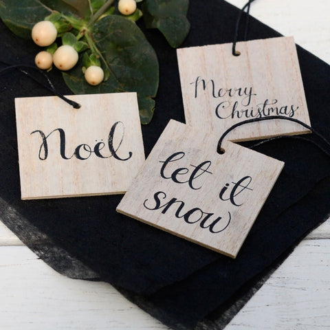 Wooden Gift Tag Set/3 (2 in stock)