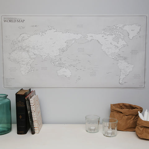 World Map White