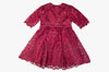 Burgundy Lace Cyra Dress