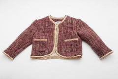 Pink and Gold Tweed Coco Jacket