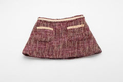 Pink and Gold Tweed Coco Skirt