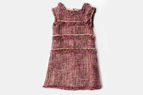 Pink and Gold Tweed Coco Dress