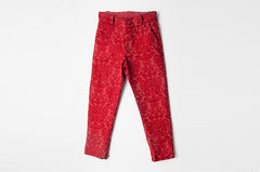Red Brocade Gaby Pants