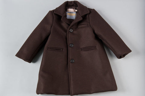 Brown Simple Peacoat