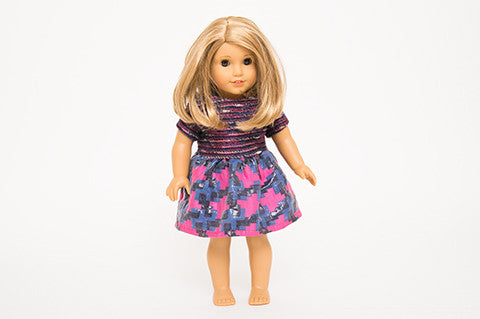 Purple and Pink Alice Doll Dress