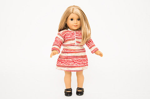 Red Eloise Doll Jacket and Skirt