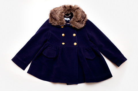 Navy Sophia Coat