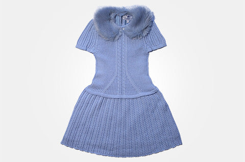Blue Knit Alexandra Dress