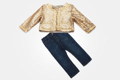 Gold Sequin Sandra Bolero