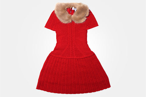 Red Knit Alexandra Dress