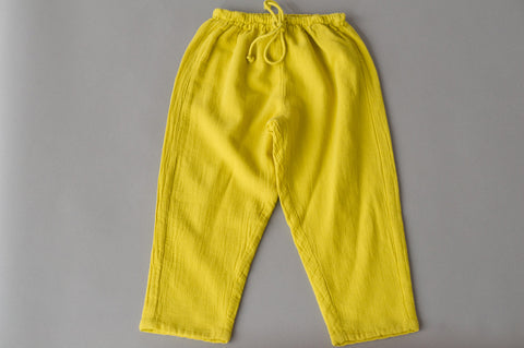 Yellow Drawstring Pants
