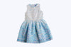 Clarissa Blue & White Dress