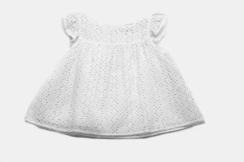 White Eyelet Lilly Top