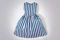 Blue Striped Gigi Dress